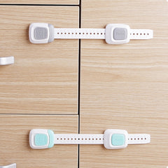 Multi-function double button baby anti-clip cabinet door lock refrigerator lock child safety protection drawer lock toilet lock - gadgetslines