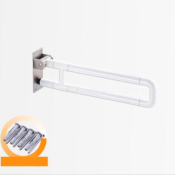 Flip Up Toilet Safety Frame Rail Shower Grab Bar for Elders Senior Kids Care, Bathroom Handrail, Folding Shower Seat, Bath Chair