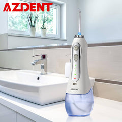 New 3 Modes Cordless Oral Irrigator Portable Water Dental Flosser USB Rechargeable Water Jet Floss Tooth Pick 5 Jet Tips 300ml - gadgetslines