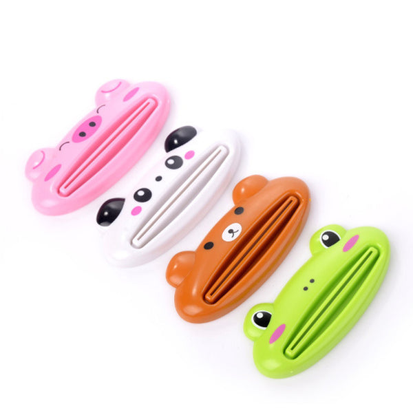 1pcs Animal Easy Toothpaste Dispenser Plastic Tooth Paste Tube Squeezer Useful Toothpaste Rolling Holder For Home Bathroom - gadgetslines