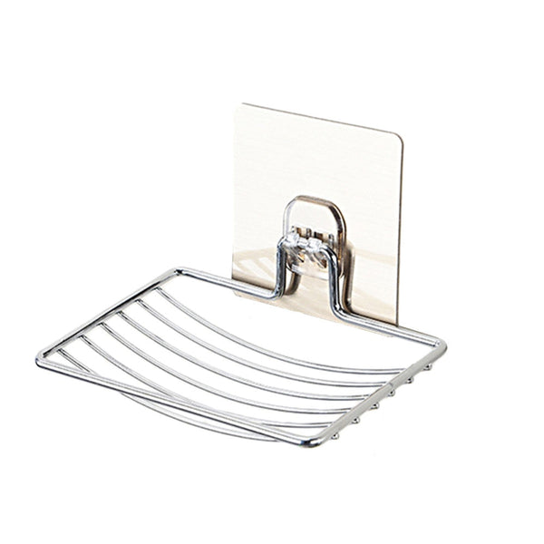 Stainless Steel Soap Dish Bathroom Storage Soap Rack Plate Box Container  Wall Storage Rack Holder - gadgetslines