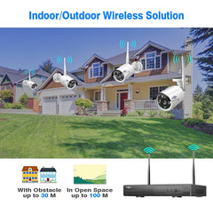 Hiseeu 8CH Wireless CCTV System 1080P 1TB 4pcs 2MP NVR IP IR-CUT outdoor CCTV Camera IP Security System Video Surveillance Kit - gadgetslines