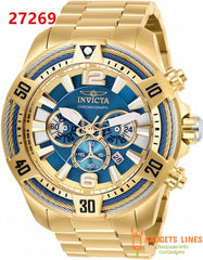 Invicta Men's Watch Model  - 53mm Japan Quartz Bolt Men Stainless Steel Wristwatch