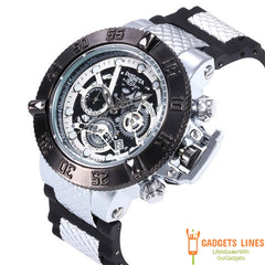 New Arrival Swiss Brand INVICTA LOGO Rotating Dial Outdoor Sports Mens Silicone Watches Quartz Watch All The Functions Work