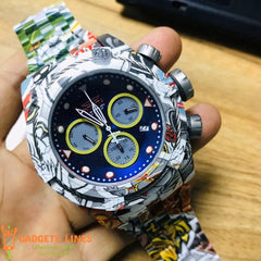 INVICTA stainless steel Watch Waterproof Large Dial Men's Watch Graffiti Fashion Quartz Watch Men 27095