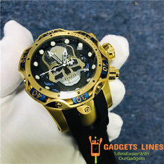 Invicta Reserve Venom Men Model 30351 - Men's Watch Swiss Quartz 52.5mm  Stainless Steel Aluminum