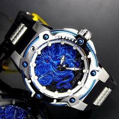 Invicta Speedway Dragon Casual Large Dial Mechanical Movement Luminous Stainless Steel Men's Watch
