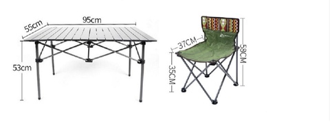 Outdoor picnic set portable folding tables and chairs for camping folding table and chair set folding aluminum table - gadgetslines
