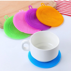 6 pcs silicone dishwashing brush silicone dishwashing sponge kitchen dishwashing sponge
