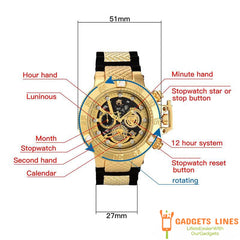 TOP Quality Invicta full-featured rotating bezel luminous function small pointers all work men's fashion casual watches