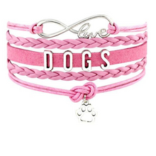 Load image into Gallery viewer, Infinity Love Dog Mom Bracelet