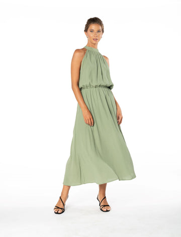 Last Kiss Dress - Sage Craft Green