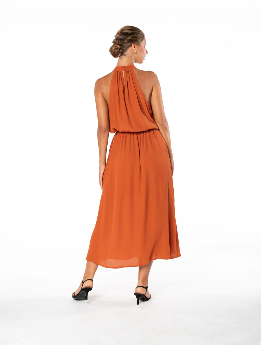 Last Kiss Dress - Burnt Orange