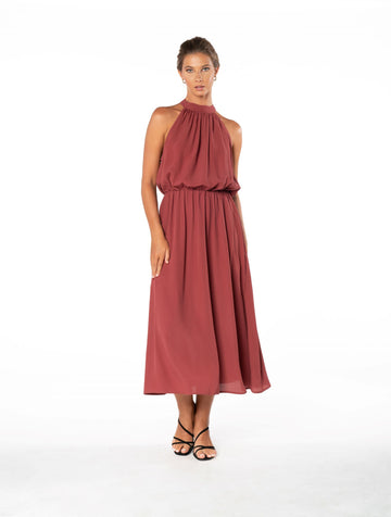 Last Kiss Dress - Dusky Plum