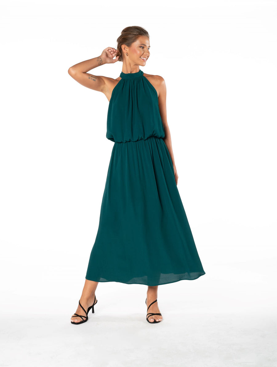 Last Kiss Dress - Emerald Green