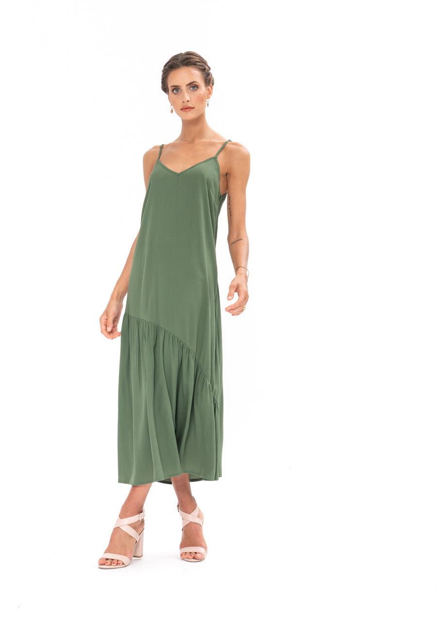 Dreamer Dress - Olive Green