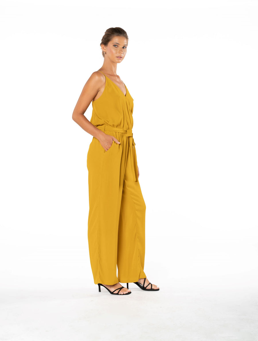 Young and Beautiful Jumpsuit - Gold