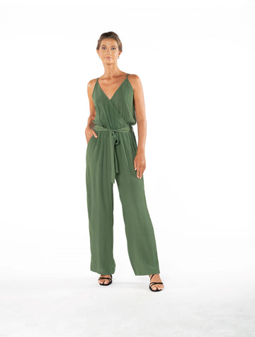Young and Beautiful Jumpsuit - Olive Green