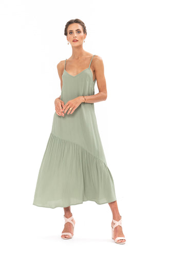 Dreamer Dress - Sage Craft Green
