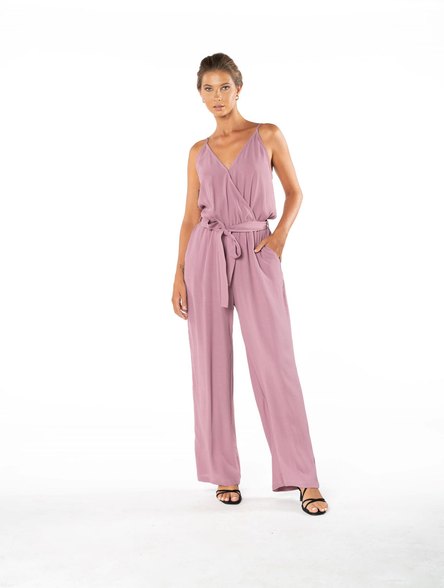 Young and Beautiful Jumpsuit - Purple Blush