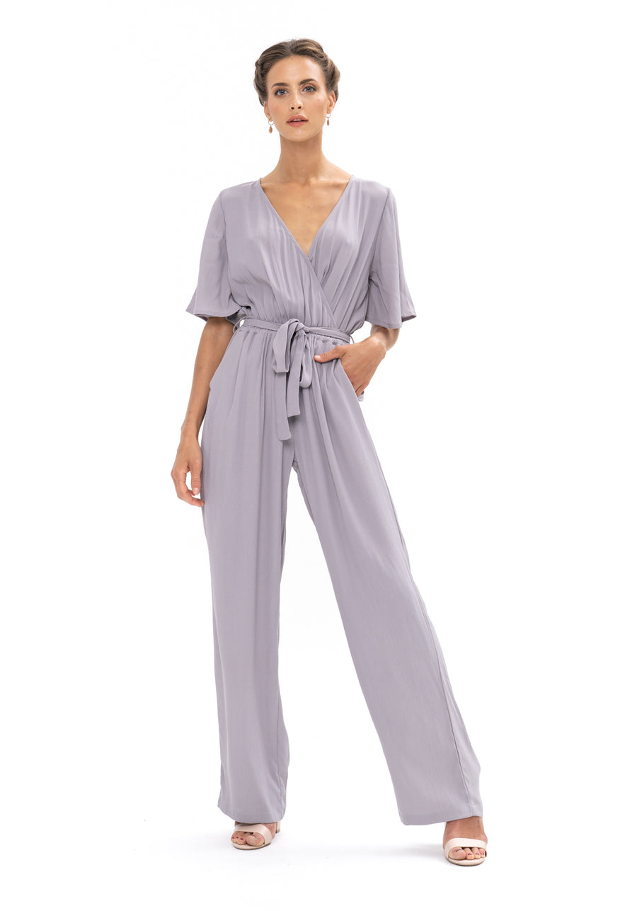 Leave Me Lonely Jumpsuit - Appaloosa Grey