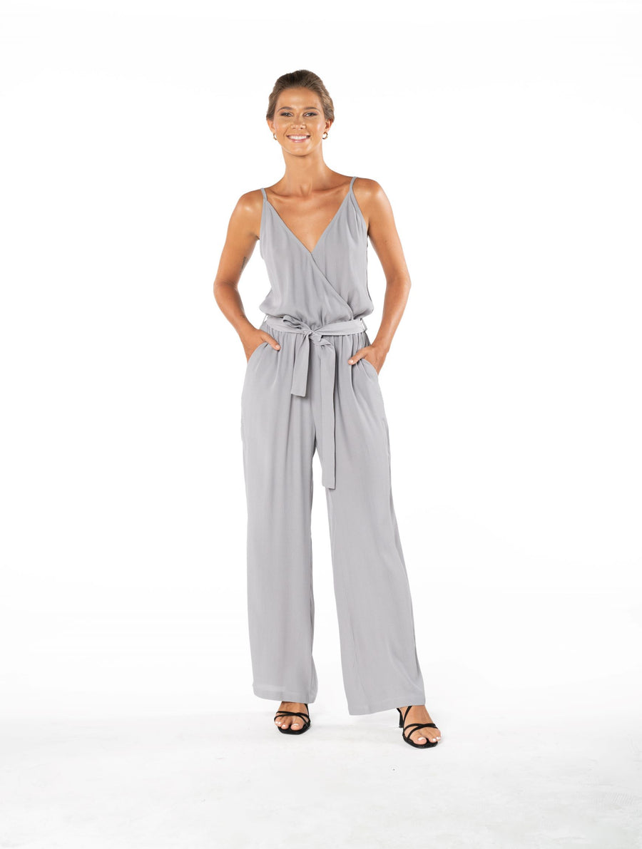 Young and Beautiful Jumpsuit - Appaloosa Grey