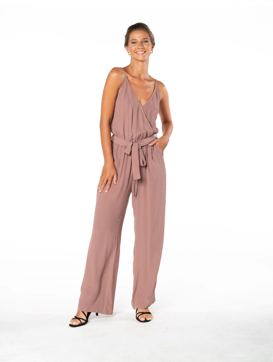 Young and Beautiful Jumpsuit - Ibiza Brown