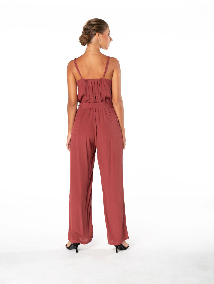 Young and Beautiful Jumpsuit - Dusky Plum