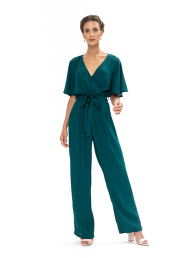 Leave Me Lonely Jumpsuit - Emerald Green