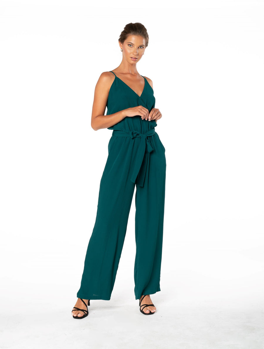 Young and Beautiful Jumpsuit - Emerald Green