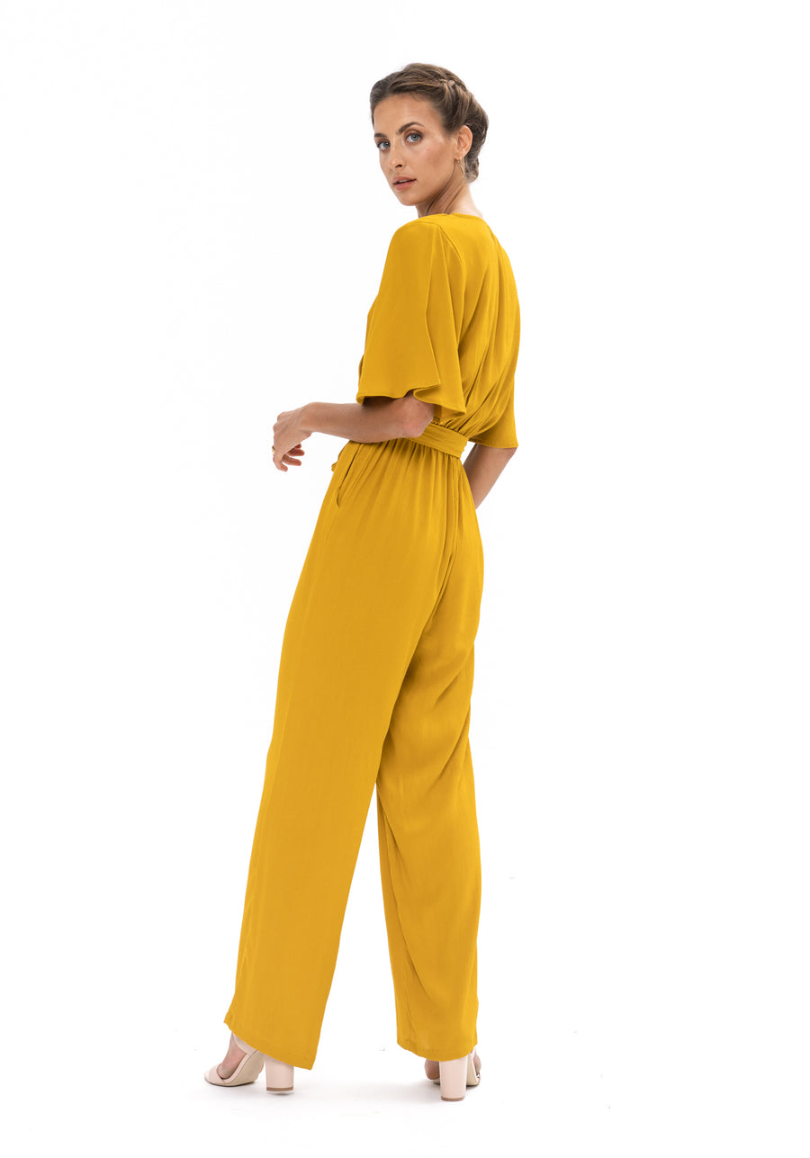 Leave Me Lonely Jumpsuit - Gold