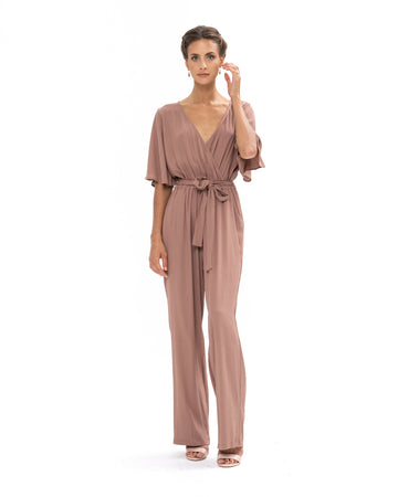 Leave Me Lonely Jumpsuit - Ibiza Brown