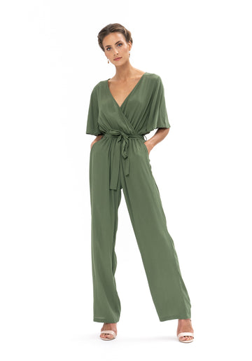 Leave Me Lonely Jumpsuit - Olive Green
