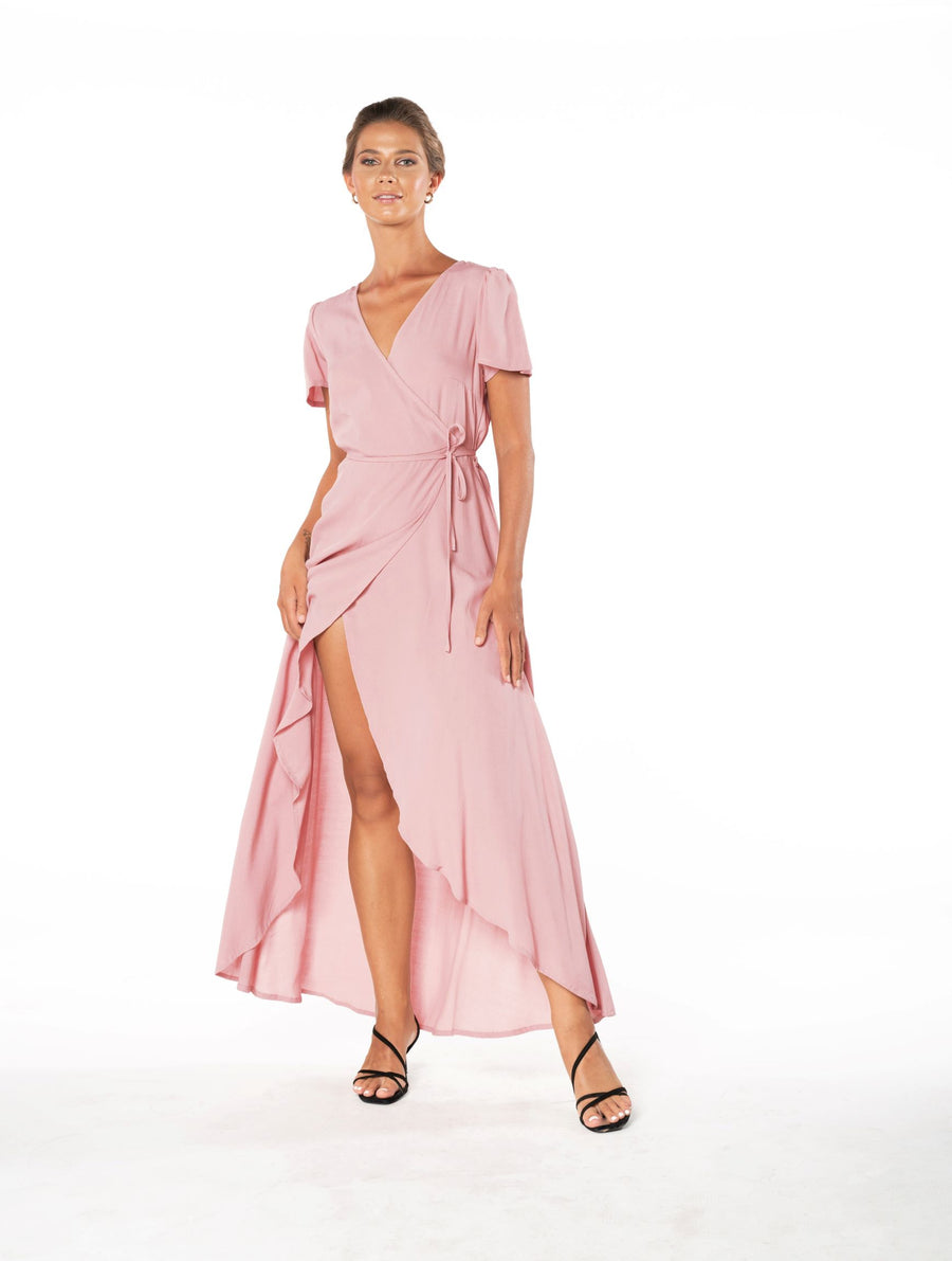 Sunset Wrap Dress - Calico Rose