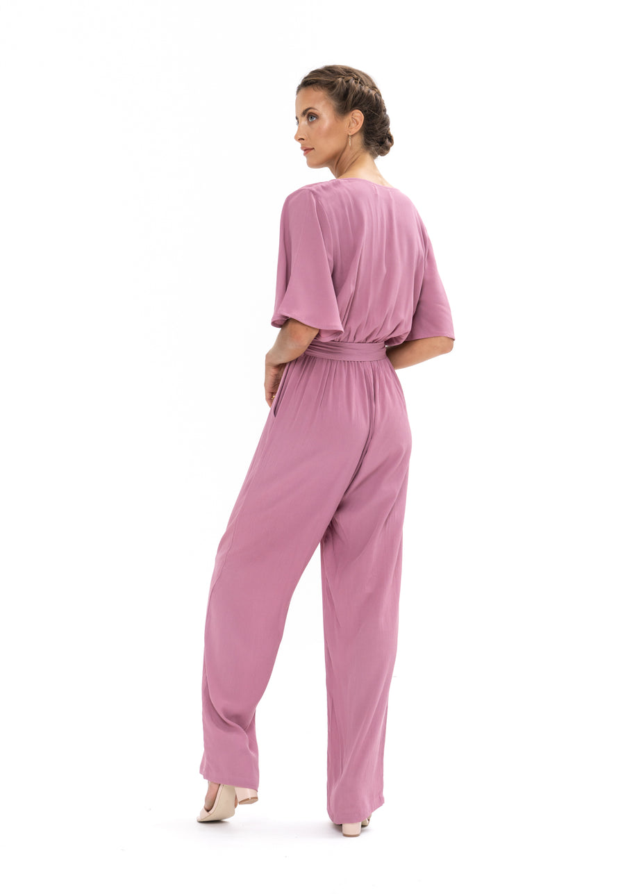 Leave Me Lonely Jumpsuit - Purple Blush