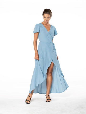 Sunset Wrap Dress - Blue Floyd