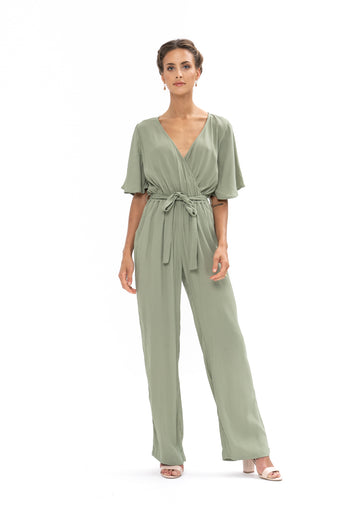 Leave Me Lonely Jumpsuit - Sage Craft Green