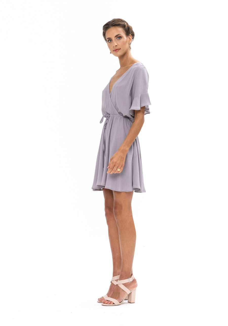 All That She Wants Dress - Appaloosa Grey