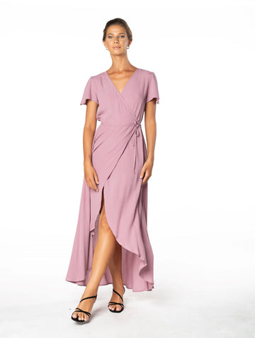 Sunset Wrap Dress - Purple Blush