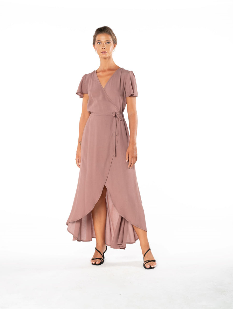 Sunset Wrap Dress - Ibiza Brown