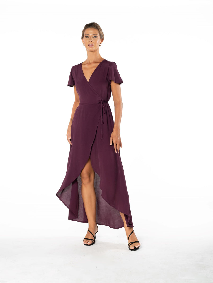 Sunset Wrap Dress - Aubergine