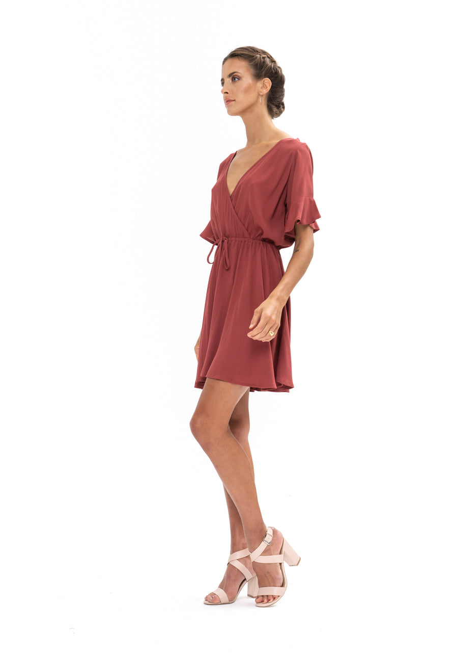 All That She Wants Dress - Dusky Plum