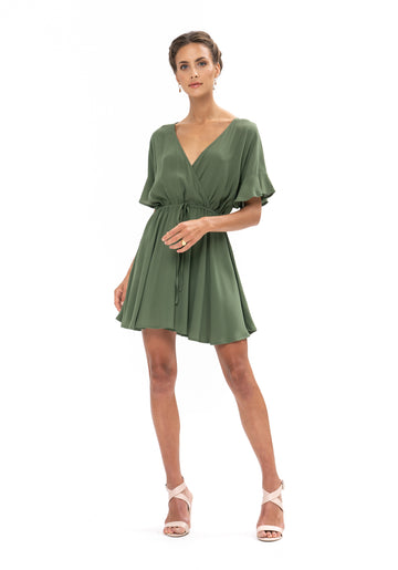 All That She Wants Dress - Olive Green
