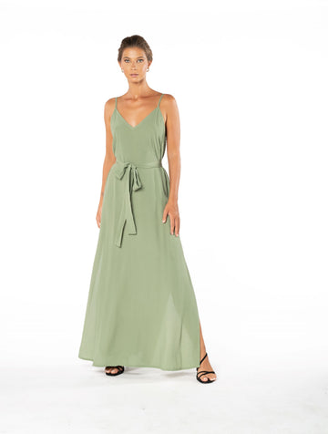 Roxanne Dress - Sage Craft Green