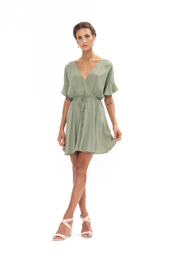 All That She Wants Dress - Sage Craft Green