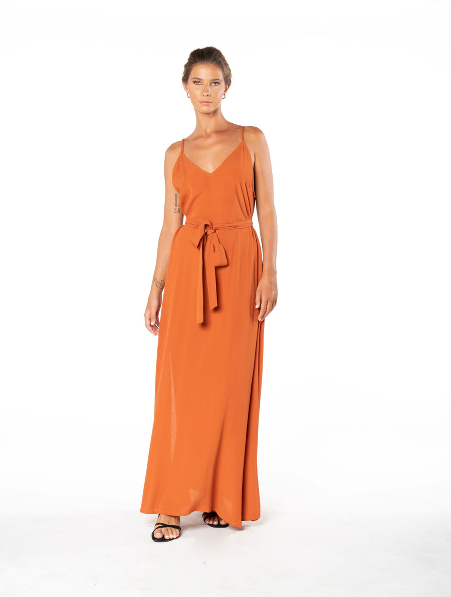 Roxanne Dress - Burnt Orange