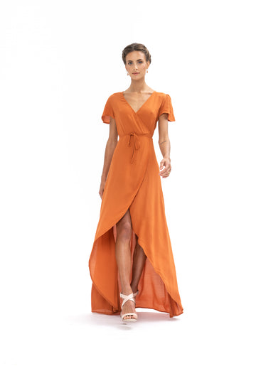 Sunrise Maxi Dress - Burnt Orange