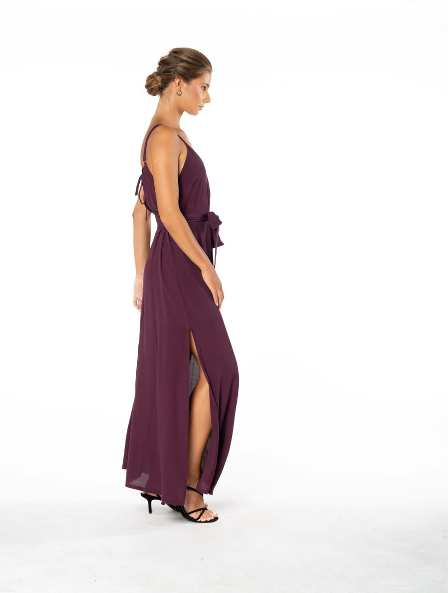 Roxanne Dress - Aubergine