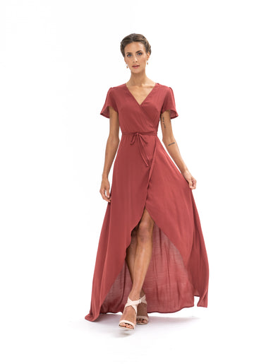 Sunrise Maxi Dress - Dusky Plum