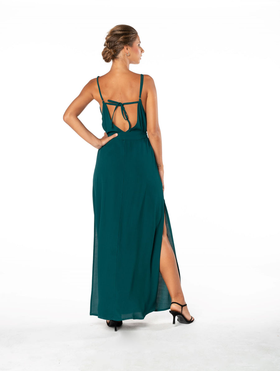 Roxanne Dress - Emerald Green